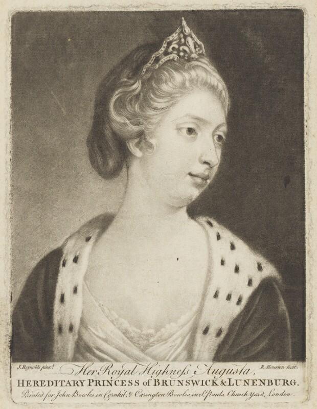 Princess Augusta Charlotte, Duchess of Brunswick-Wolfenbüttell, by Richard Houston, after  Sir Joshua Reynolds, mid 18th century - NPG D9120 - © National Portrait Gallery, London