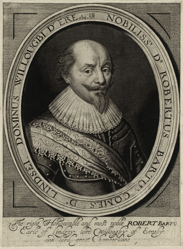 Robert Bertie, 1st Earl of Lindsey, by Robert van Voerst, published by  William Webb, after  George Geldorp, circa 1630 - NPG D27027 - © National Portrait Gallery, London