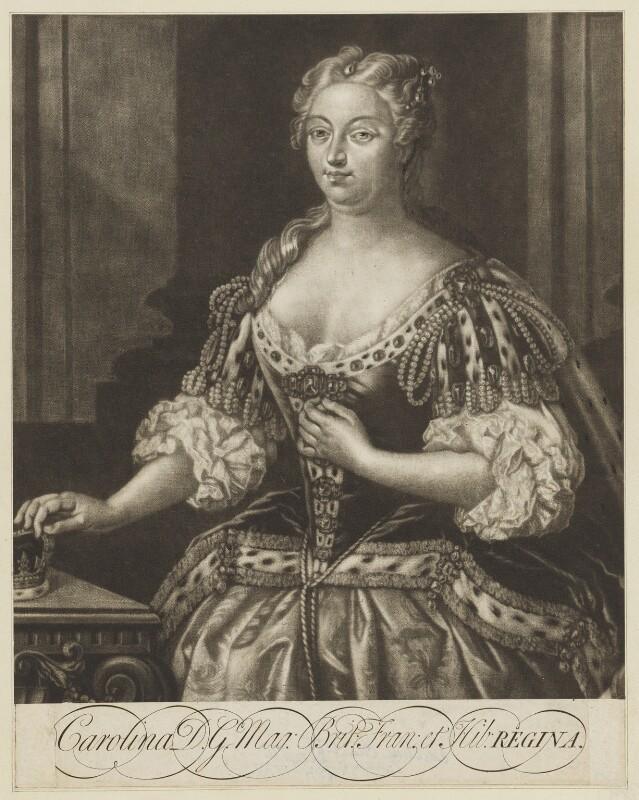 Caroline Wilhelmina of Brandenburg-Ansbach, by Alexander van Aken, after  Jacopo Amigoni, 1736 - NPG D9139 - © National Portrait Gallery, London