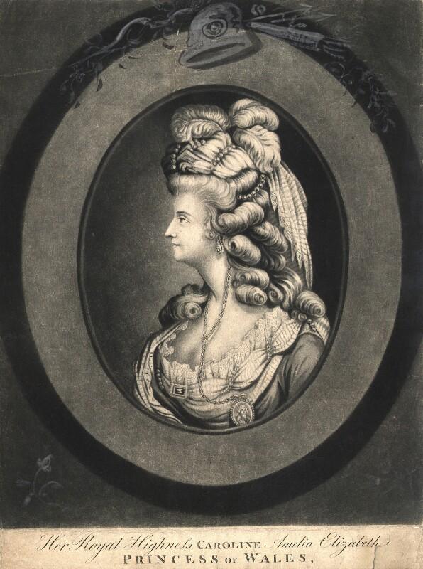 Caroline Amelia Elizabeth of Brunswick, after Unknown artist, published 24 February 1795 - NPG D9141 - © National Portrait Gallery, London