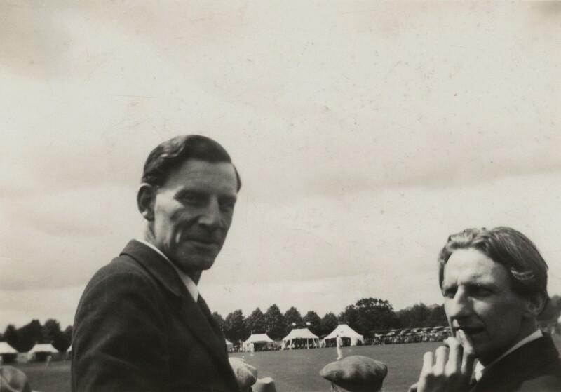 Siegfried Loraine Sassoon; Edmund Blunden, by Unknown photographer, 8 July 1931 - NPG x46602 - © National Portrait Gallery, London