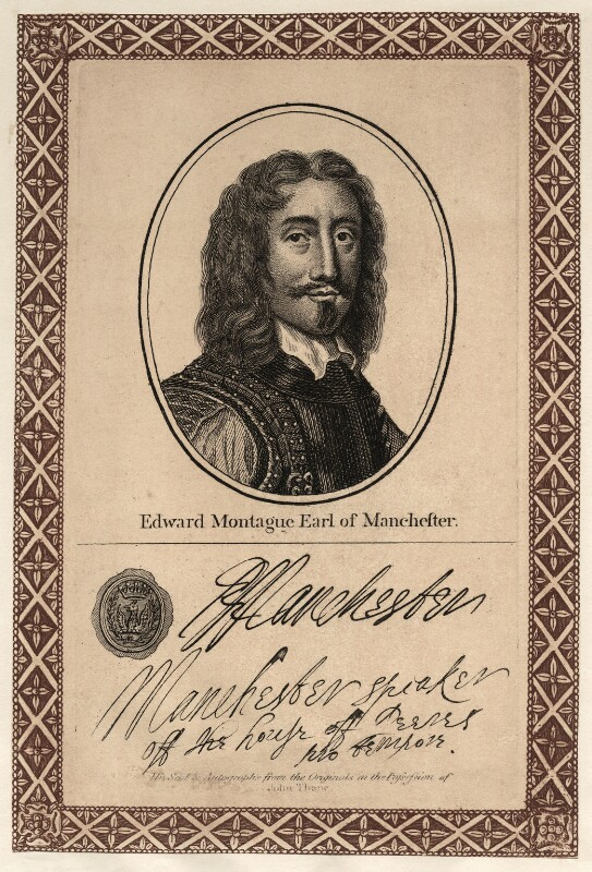 Edward Montagu, 2nd Earl of Manchester, published by John Thane, after  Sir Anthony van Dyck, early 19th century - NPG D27135 - © National Portrait Gallery, London