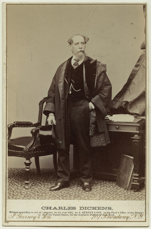 Charles Dickens, by Gurney & Son, 1867 - NPG x45498 - © National Portrait Gallery, London