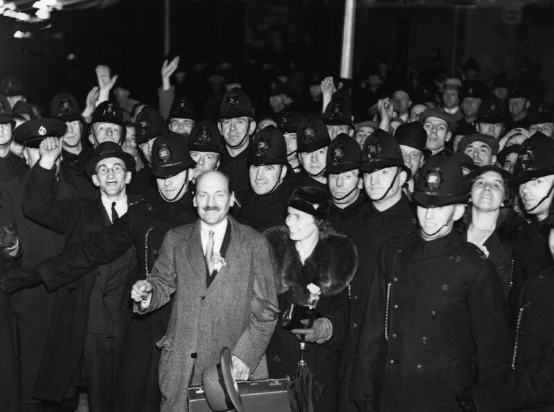 Clement Attlee, by George Woodbine, for  Daily Herald, 14 November 1935 - NPG x88301 - © Science & Society Picture Library / National Portrait Gallery, London
