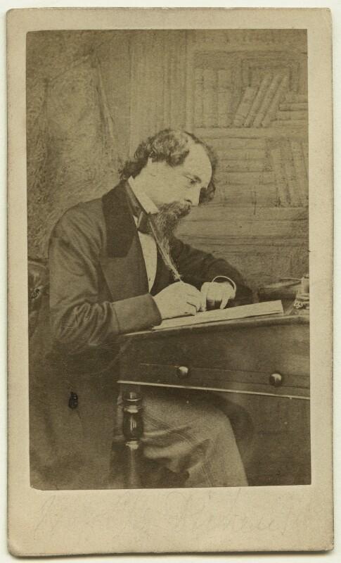 Charles Dickens, by (George) Herbert Watkins, 1858 - NPG x14341 - © National Portrait Gallery, London