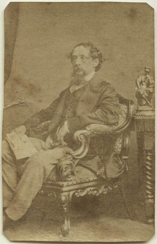 Charles Dickens, by John & Charles Watkins, 1861 - NPG x14338 - © National Portrait Gallery, London
