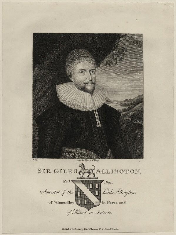 Sir Giles Alington, published by Robert Wilkinson, published 11 October 1810 - NPG D27202 - © National Portrait Gallery, London