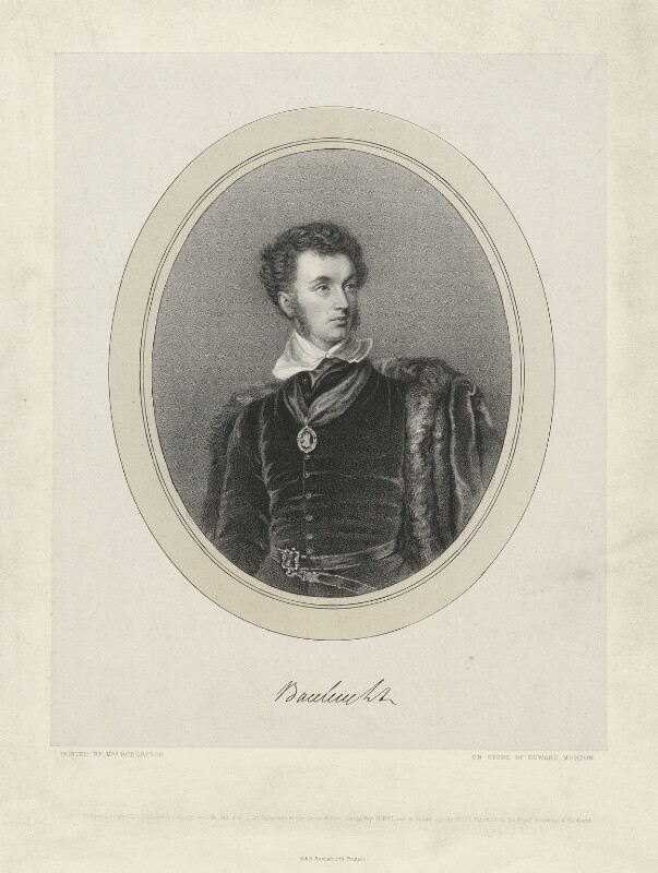 Walter Francis Montagu-Douglas-Scott, 5th Duke of Buccleuch and 7th Duke of Queensberry, by Edward Morton, after  Christina Robertson (née Saunders), published 1843 - NPG D32265 - © National Portrait Gallery, London
