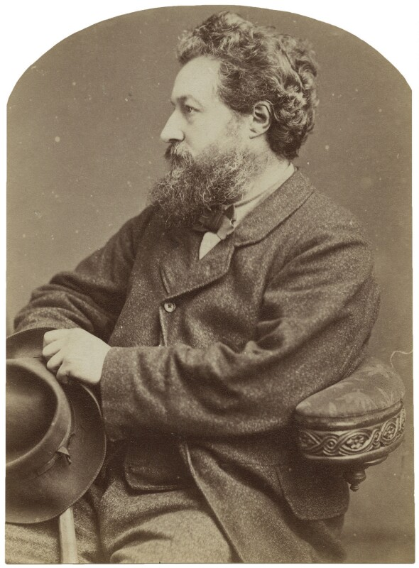 William Morris, by Elliott & Fry, 21 March 1877 - NPG x131223 - © National Portrait Gallery, London