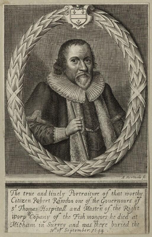 Robert Rawdon, by Abraham Hertochs (Hertocks), mid 17th century - NPG D27258 - © National Portrait Gallery, London