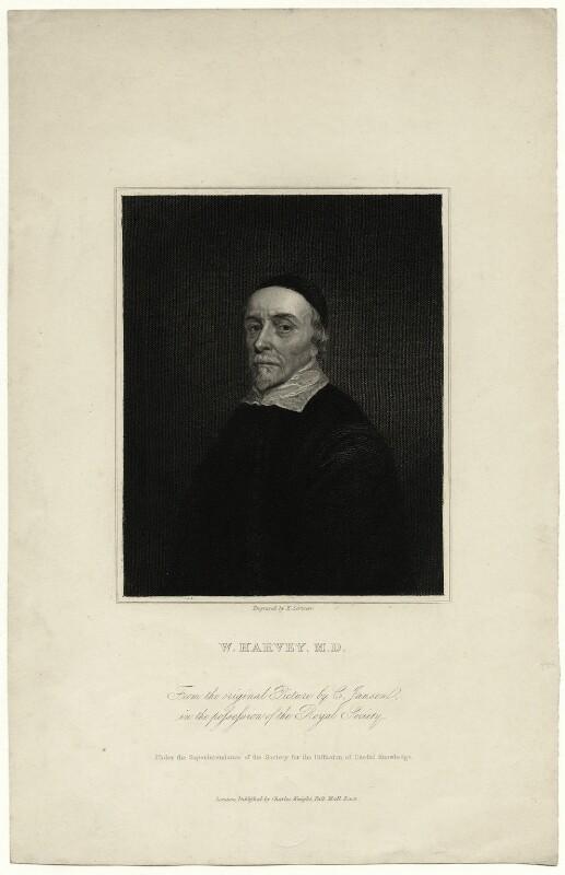 William Harvey, by Edward Scriven, after  Cornelius Johnson (Cornelius Janssen van Ceulen), early 19th century - NPG D27270 - © National Portrait Gallery, London