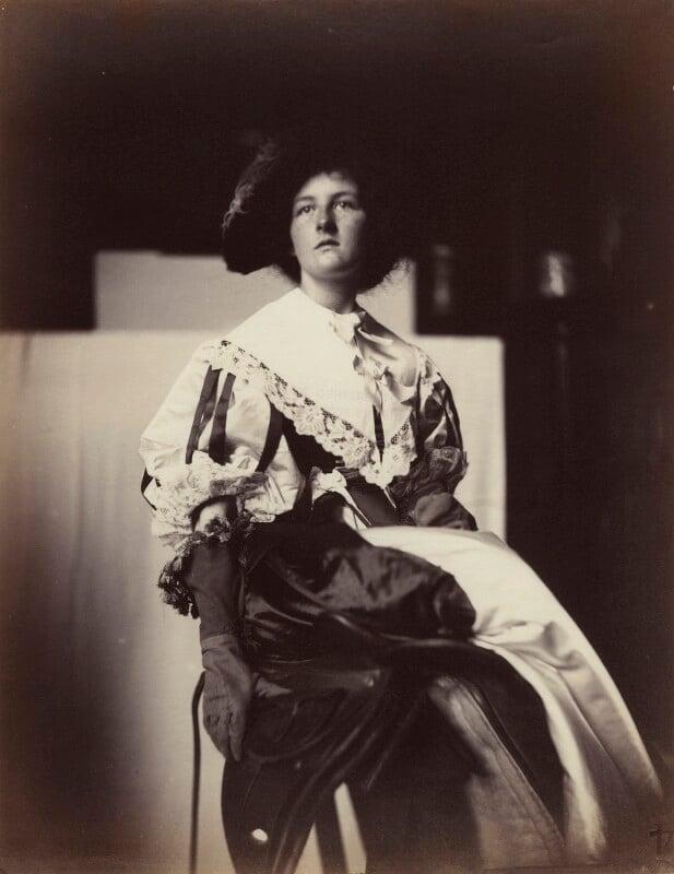 'Nell Gwynne' (Effie Gray James (née Millais)), by Rupert Potter, 7 June 1882 - NPG x131241 - © National Portrait Gallery, London
