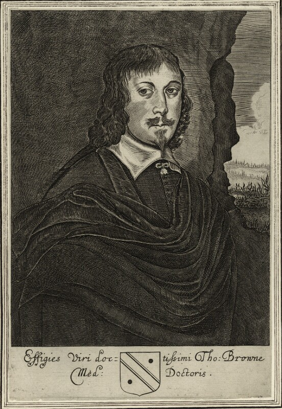 Sir Thomas Browne, by Unknown artist, published 1669 - NPG D27273 - © National Portrait Gallery, London
