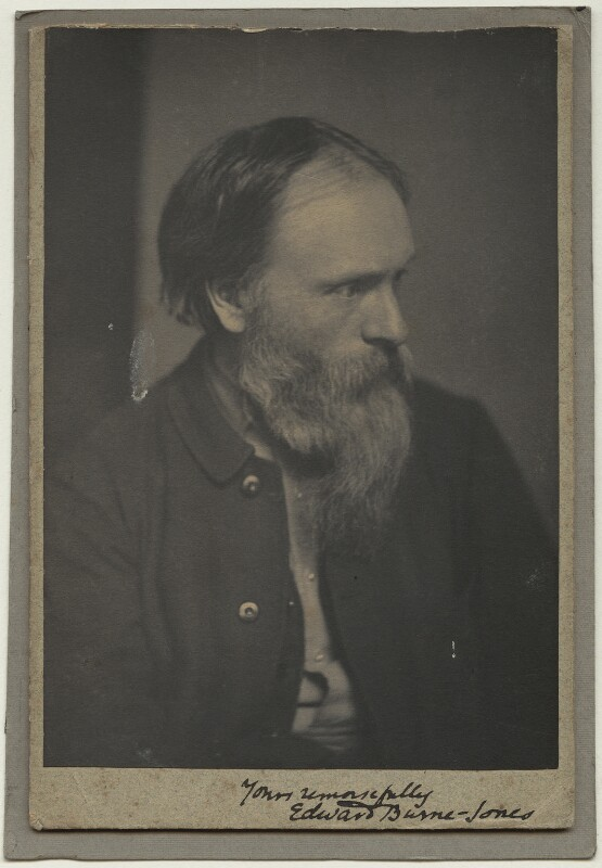 Sir Edward Coley Burne-Jones, 1st Bt, by Frederick Hollyer, 1882 - NPG x19017 - © National Portrait Gallery, London