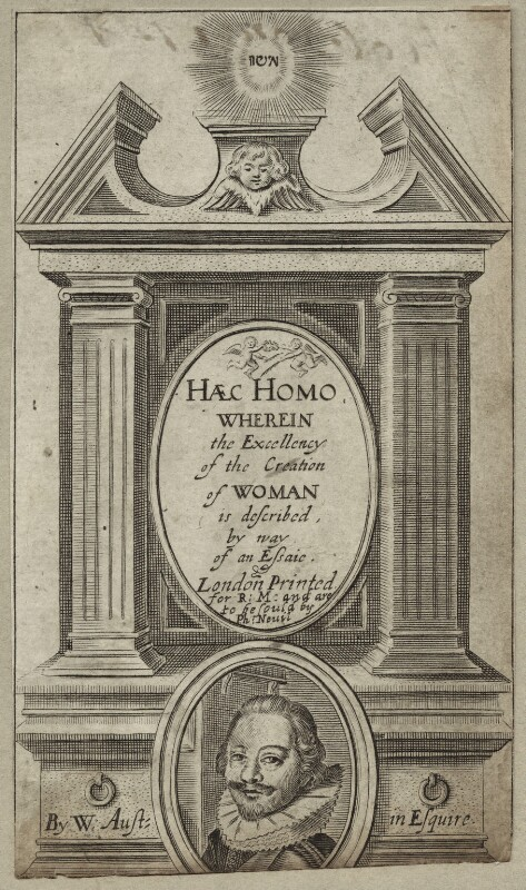 William Austin in the title to his 'Haec Homo', by George Glover, published 1637 - NPG D27845 - © National Portrait Gallery, London