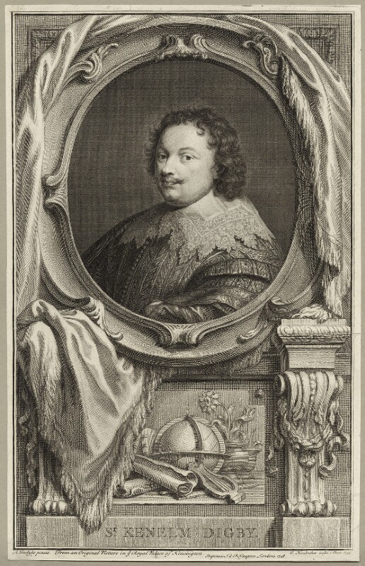 Sir Kenelm Digby, by Jacobus Houbraken, published by  John & Paul Knapton, after  Sir Anthony van Dyck, published 1748 (1747) - NPG D27875 - © National Portrait Gallery, London