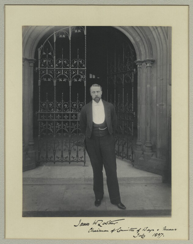 James William Lowther, 1st Viscount Ullswater, by Benjamin Stone, July 1897 - NPG x31535 - © National Portrait Gallery, London