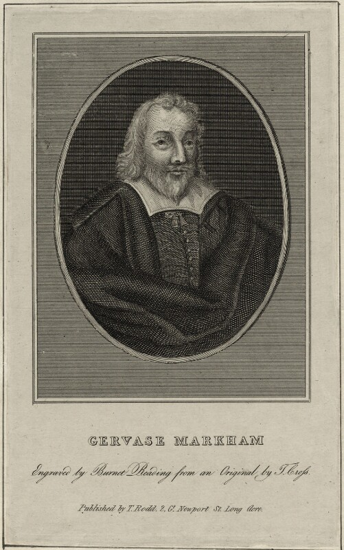 Gervase Markham, by Burnet Reading, published by  Thomas Rodd the Elder, after  Thomas Cross, early 19th century - NPG D27913 - © National Portrait Gallery, London