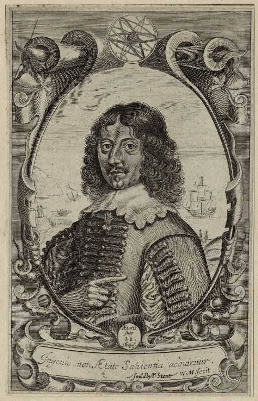 John Thompson, by William Marshall, published by  Peter Stent, mid 17th century - NPG D27923 - © National Portrait Gallery, London