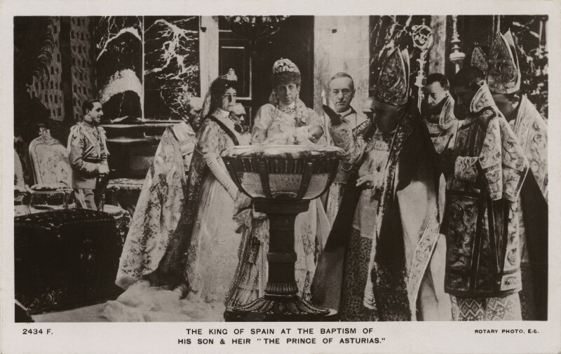 'The King of Spain at the Baptism of his Son and Heir', published by Rotary Photographic Co Ltd, 1907 - NPG x74473 - © National Portrait Gallery, London