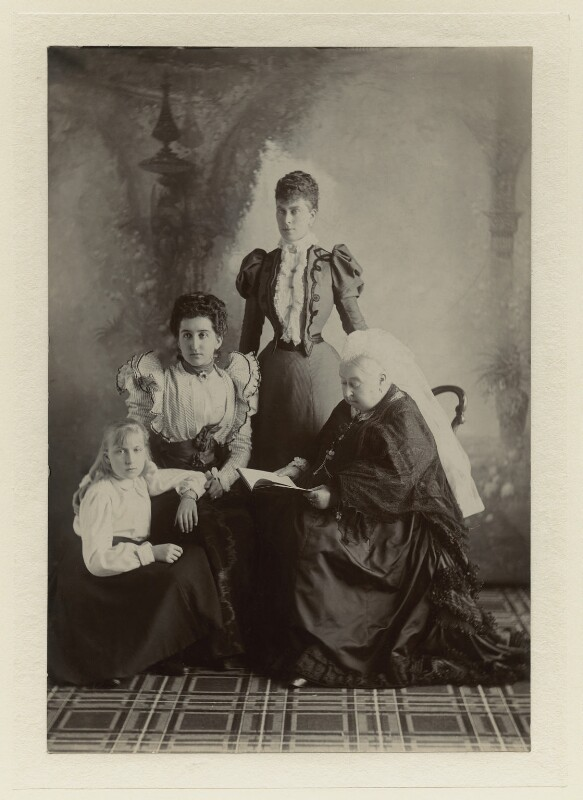 Queen Victoria and family, by Robert Milne, September 1897 - NPG x8486 - © reserved; collection National Portrait Gallery, London