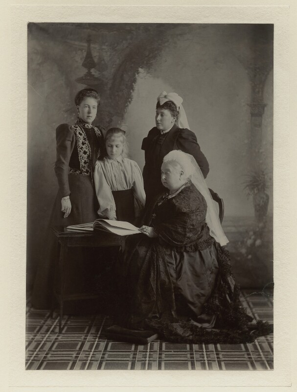 Queen Victoria and family, by Robert Milne, September 1897 - NPG x8488 - © reserved; collection National Portrait Gallery, London