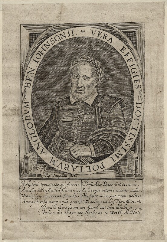 Benjamin ('Ben') Jonson, by Robert Vaughan, circa 1640 - NPG D27953 - © National Portrait Gallery, London
