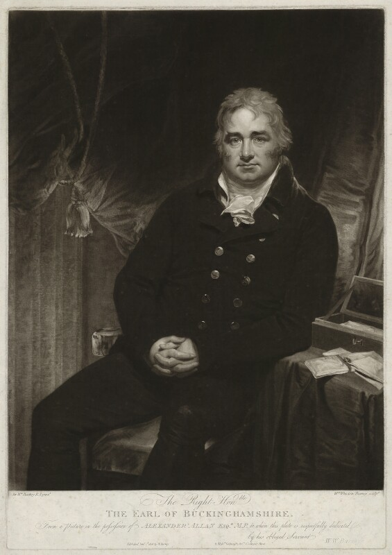 Robert Hobart, 4th Earl of Buckinghamshire, by William Whiston Barney, after  Sir William Beechey, published 1806 - NPG D32307 - © National Portrait Gallery, London