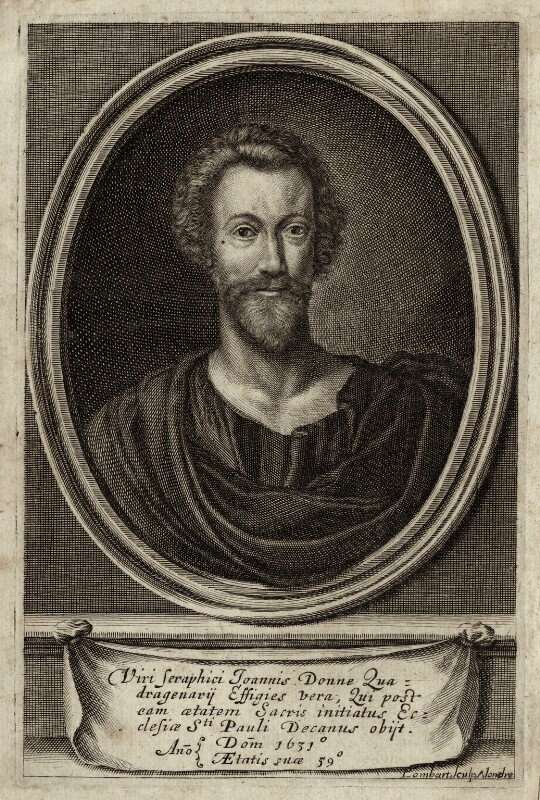 John Donne, by Pierre Lombart, published 1633 - NPG D27962 - © National Portrait Gallery, London