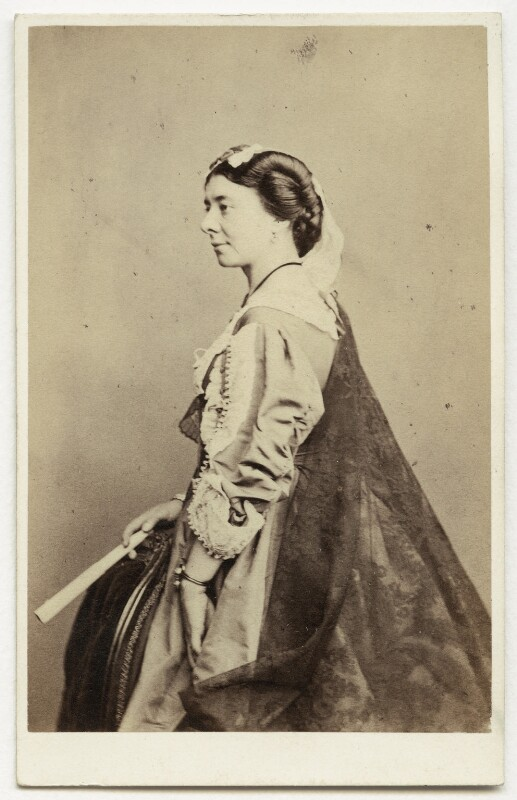 Isabella Featherstone (née Hill) (Mrs Howard Paul), by Southwell Brothers, 1860s - NPG x12696 - © National Portrait Gallery, London