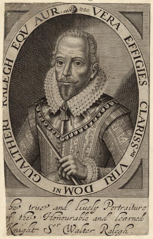 Sir Walter Ralegh (Raleigh), after Simon de Passe, (1617) - NPG D27998 - © National Portrait Gallery, London
