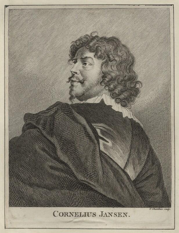 Cornelius Johnson (Cornelius Janssen van Ceulen), by Thomas Chambers (Chambars), published 1762 - NPG D28055 - © National Portrait Gallery, London