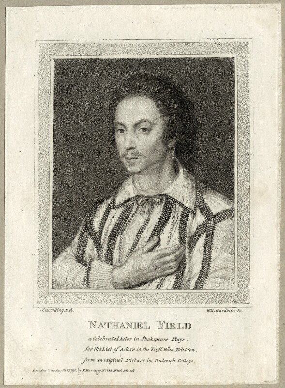 Nathan Field, by William Nelson Gardiner, after  Silvester Harding, published 1790 - NPG D28075 - © National Portrait Gallery, London