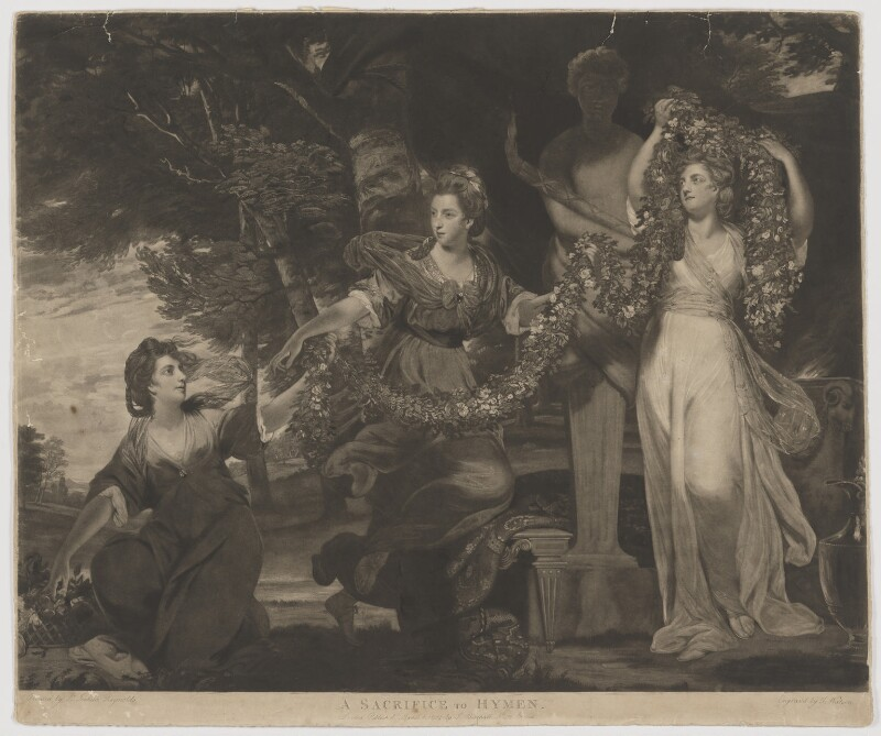 'A Sacrifice to Hymen', by Thomas Watson, published by  James Birchall, after  Sir Joshua Reynolds, published 1 March 1784 (1773) - NPG D32373 - © National Portrait Gallery, London