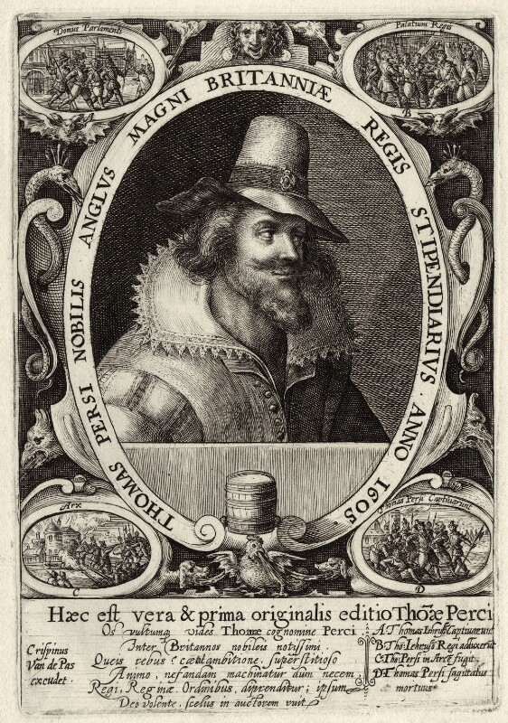 Thomas Percy, by Crispijn de Passe the Elder, early 17th century - NPG D28140 - © National Portrait Gallery, London