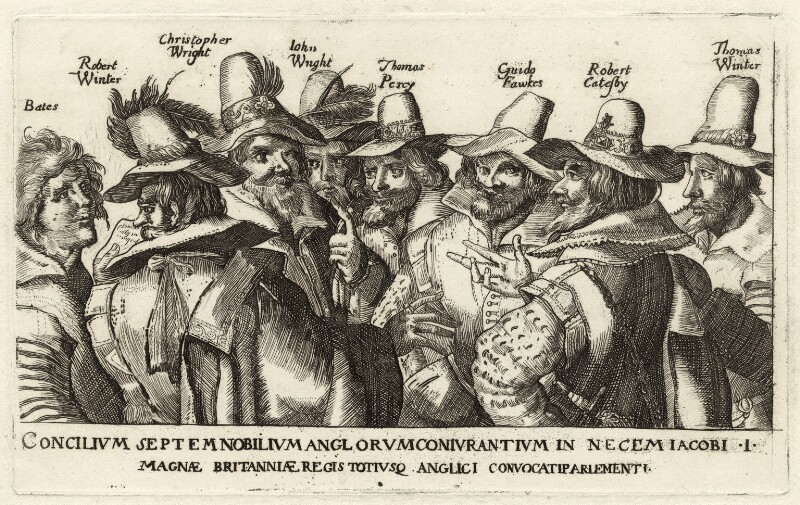 The Gunpowder Plot Conspirators, after Heinrich Ulrich, late 18th to early 19th century - NPG D28145 - © National Portrait Gallery, London