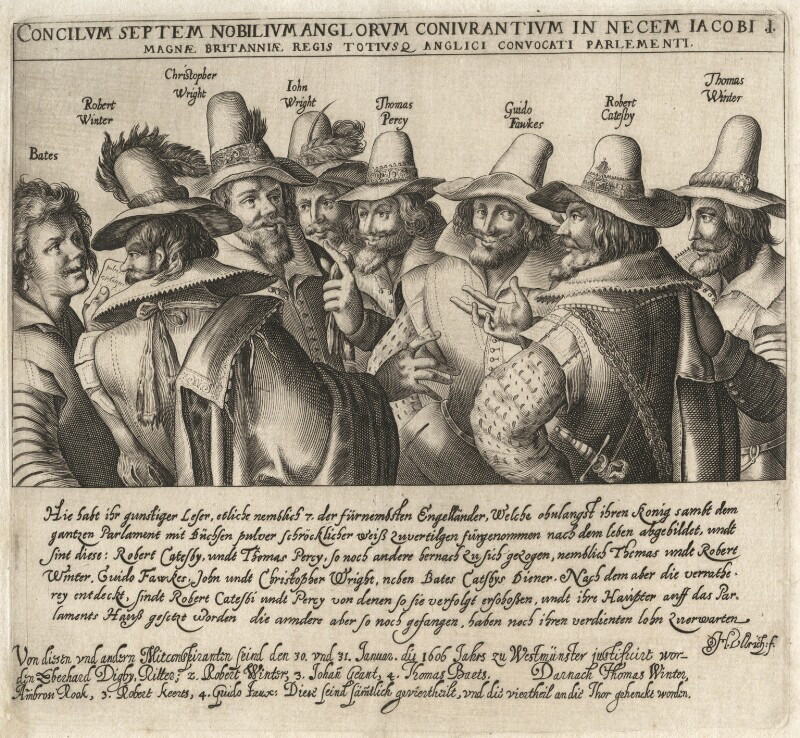 The Gunpowder Plot Conspirators, by Heinrich Ulrich, early 17th century - NPG D28146 - © National Portrait Gallery, London