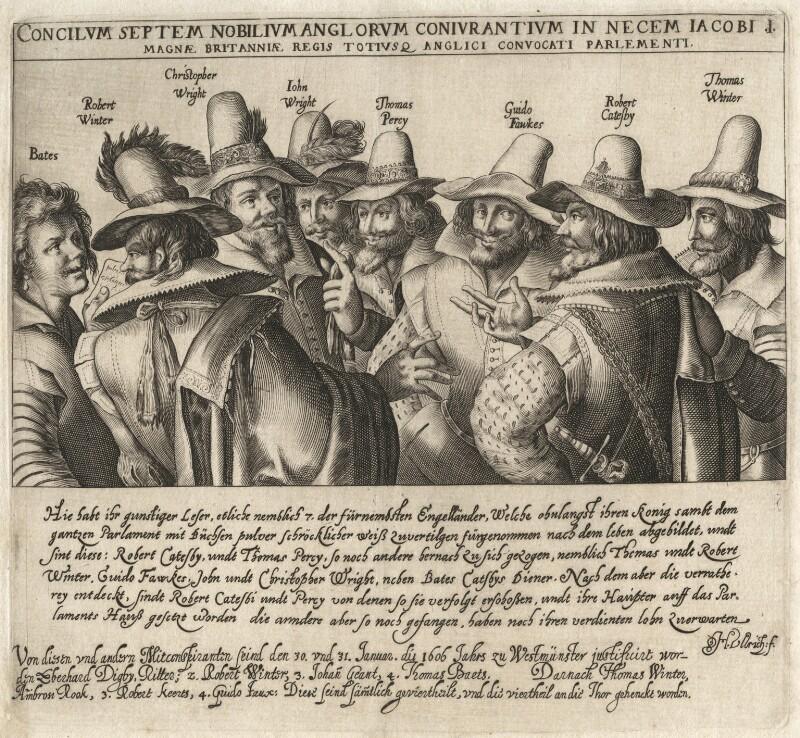 The Gunpowder Plot Conspirators, by Heinrich Ulrich, early 17th century - NPG D28146 - © National Portrait Gallery, London