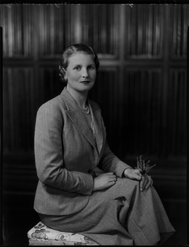 Lady Evelyn Frances Anstey (née Courtenay), by Bassano Ltd, 27 July 1936 - NPG x152303 - © National Portrait Gallery, London