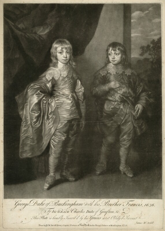 George Villiers, 2nd Duke of Buckingham and Lord Francis Villiers, by James Macardell, 1752 - NPG D28164 - © National Portrait Gallery, London