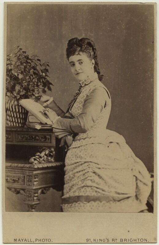 Adelina Patti, by John Jabez Edwin Mayall, 1874 - NPG x76635 - © National Portrait Gallery, London