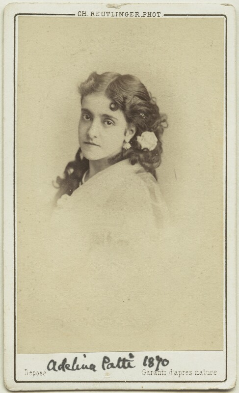 Adelina Patti, by Charles Reutlinger, 1870 - NPG Ax18173 - © National Portrait Gallery, London