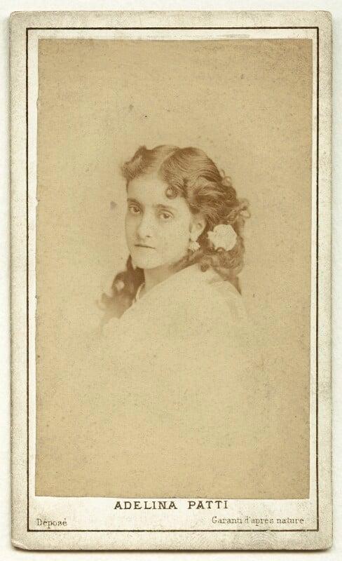 Adelina Patti, by Charles Reutlinger, 1870 - NPG x12681 - © National Portrait Gallery, London