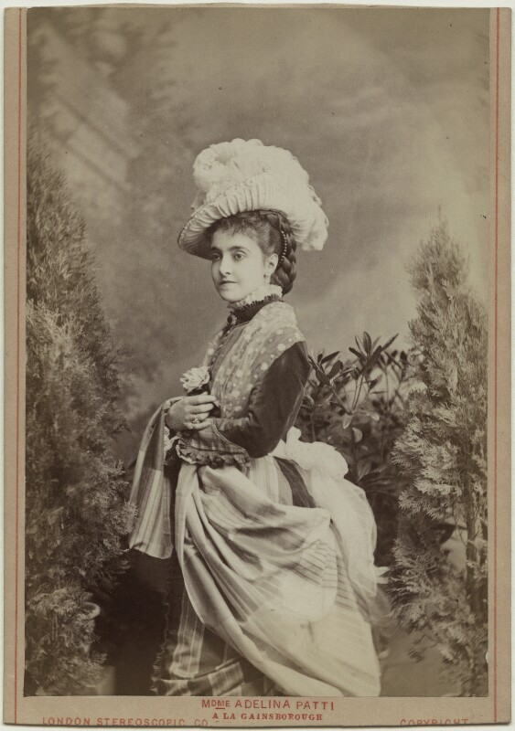 Adelina Patti, by London Stereoscopic & Photographic Company, 1876 - NPG Ax5570 - © National Portrait Gallery, London