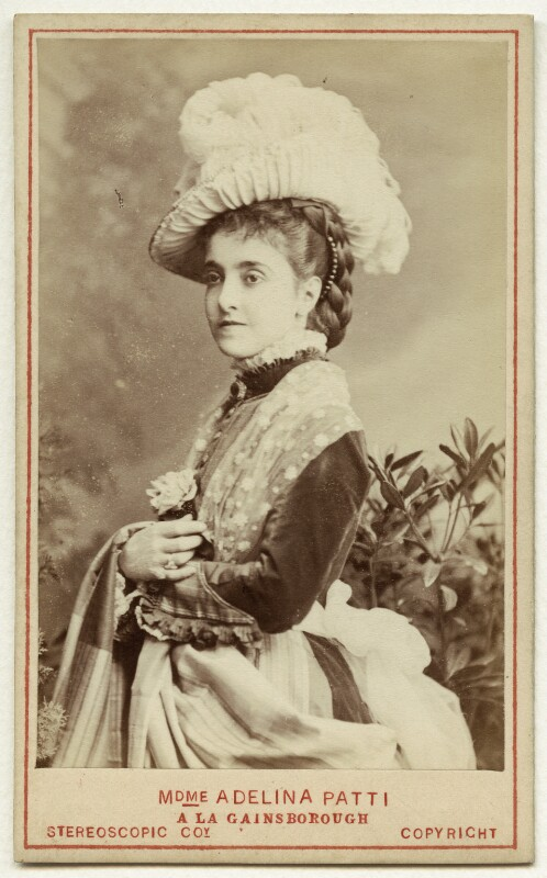 Adelina Patti, by London Stereoscopic & Photographic Company, 1876 - NPG x76773 - © National Portrait Gallery, London