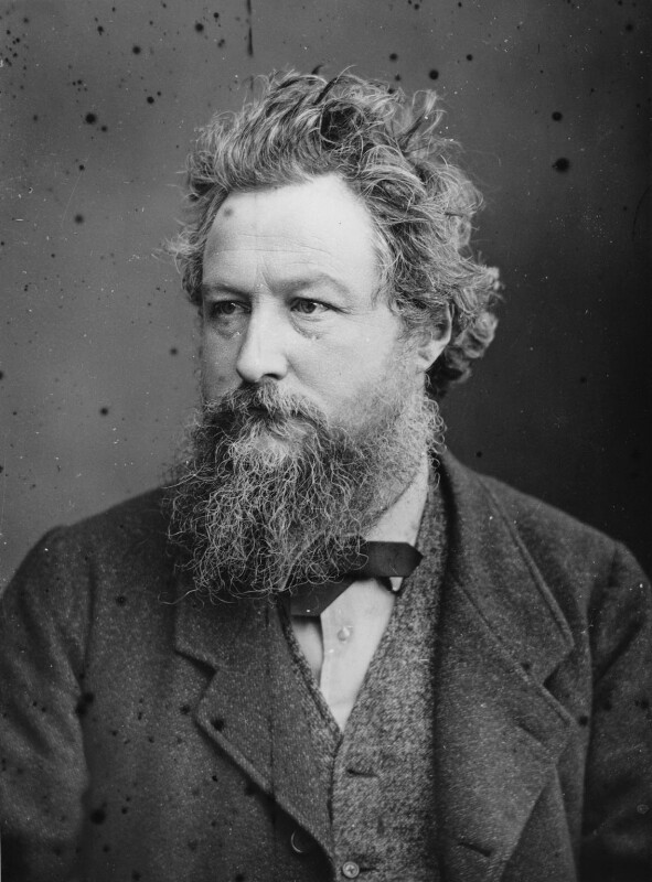William Morris, by Sir Emery Walker, after  Abel Lewis, April 1880 - NPG x19608 - © National Portrait Gallery, London