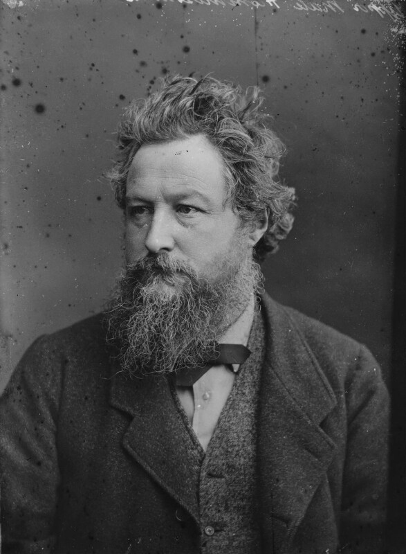 William Morris, by Sir Emery Walker, after  Abel Lewis, April 1880 - NPG x19609 - © National Portrait Gallery, London