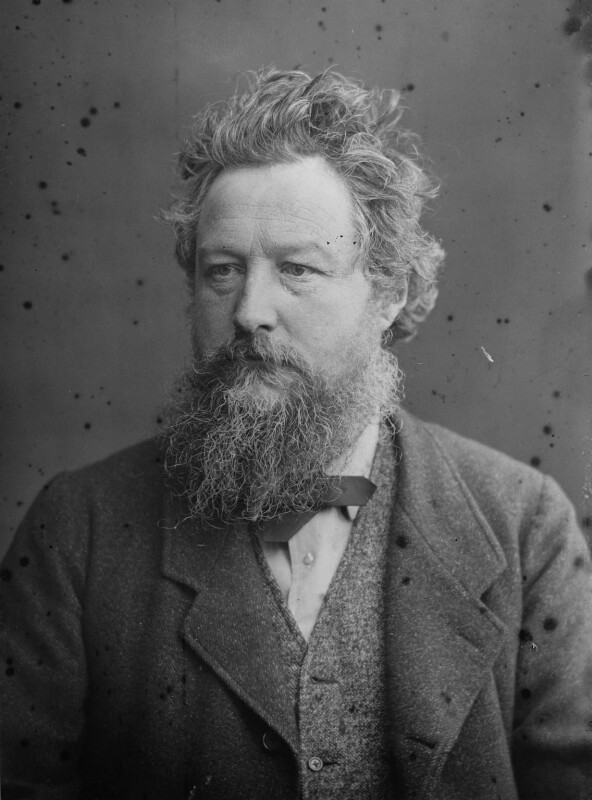 William Morris, by Sir Emery Walker, after  Abel Lewis, April 1880 - NPG x19610 - © National Portrait Gallery, London