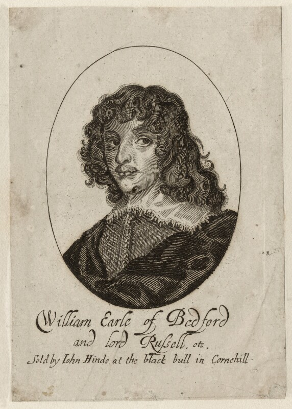 William Russell, 1st Duke of Bedford, by George Glover, published by  John Hinde, mid 17th century - NPG D28203 - © National Portrait Gallery, London