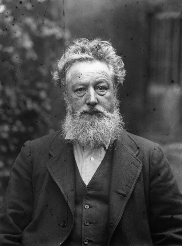 William Morris, by Sir Emery Walker, 19 January 1889 - NPG x19616 - © National Portrait Gallery, London